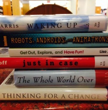 NML book spine poetry