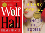 "book covers for Hilary Mantel's ""Wolf Hall"" and ""Bring Up the Bodies"""