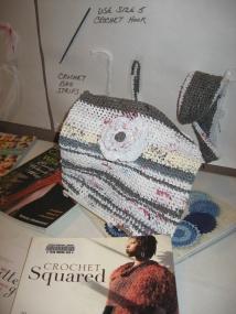 Plastic crochet bag