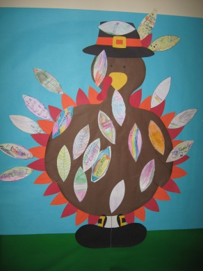Turkey with decorated feathers